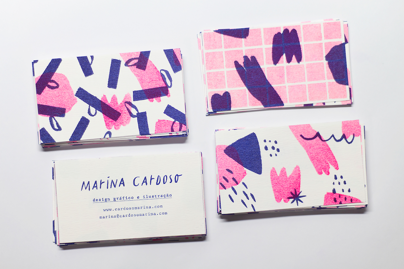 Riso risograph business card Business Cards cards ILLUSTRATION  pattern personal
