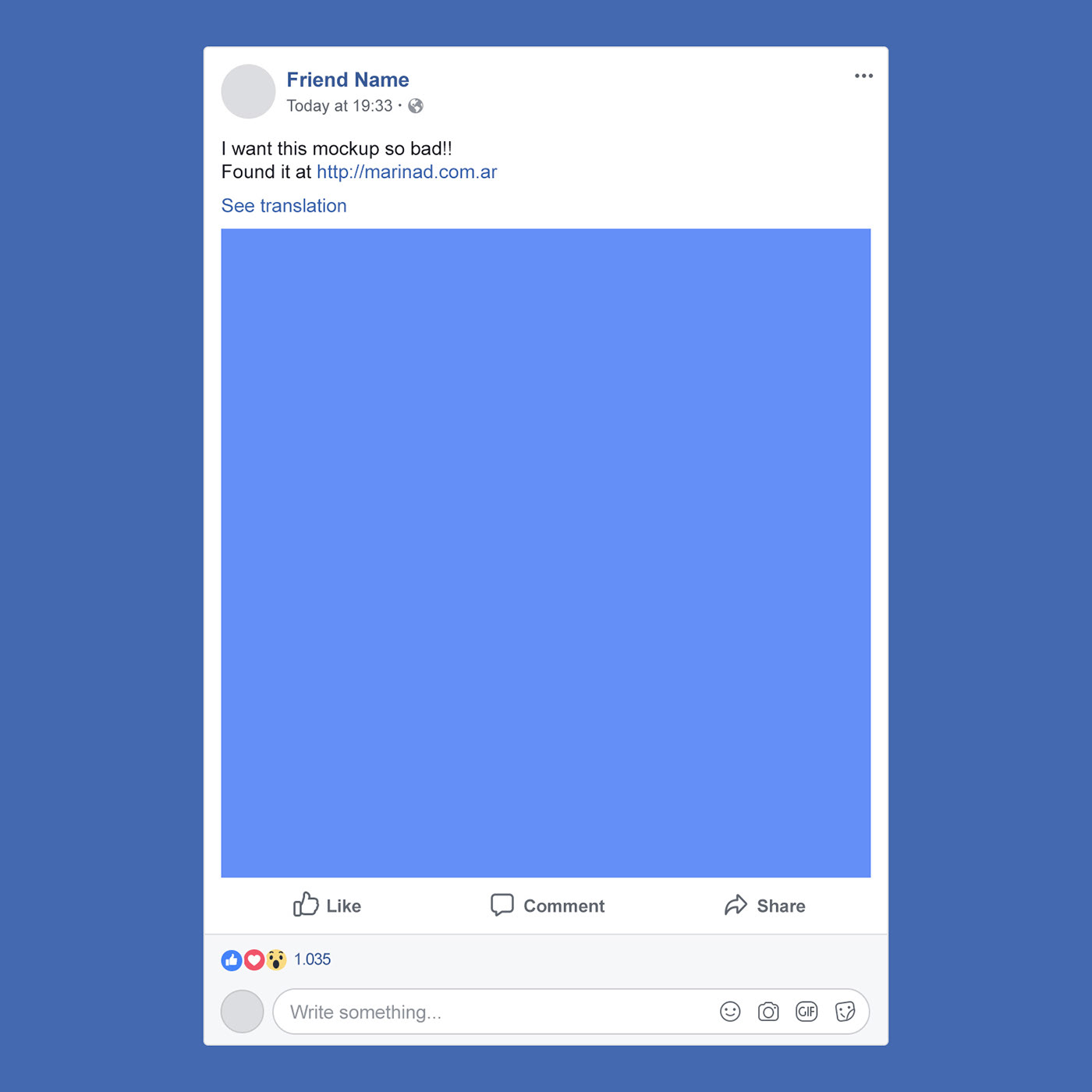 Free Facebook Psd Post Mockup 2018 On Behance