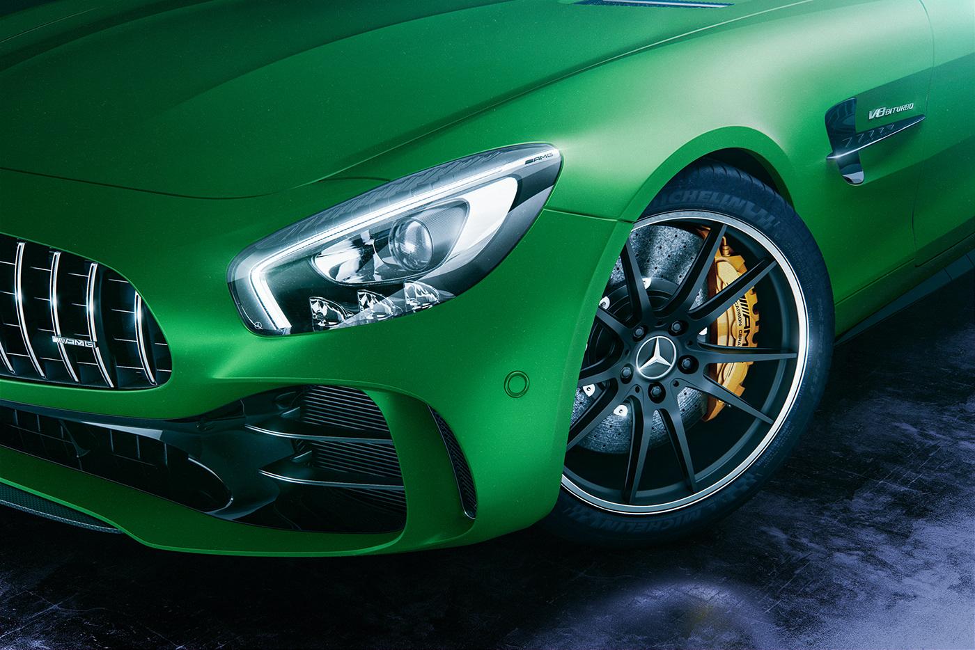 art direction  automotive   car photography CGI design mercedes Mercedes AMG Photography  photoshop retouching