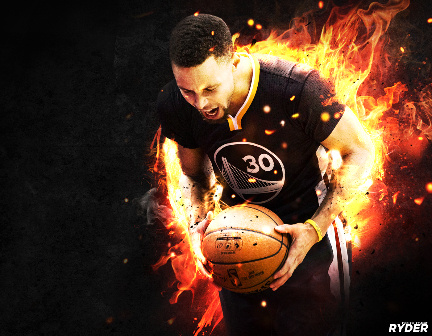 Stephen Curry Playing With Fire On Behance