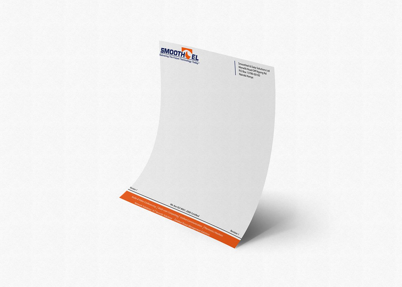 corporate branding branding  letterhead graphic design
