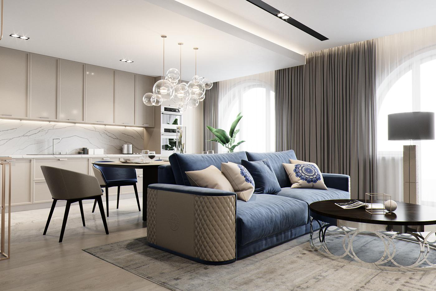 Luxury living apartments. Design for INEX Studio on Behance