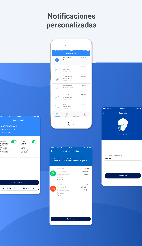ux UI Trader app Investment