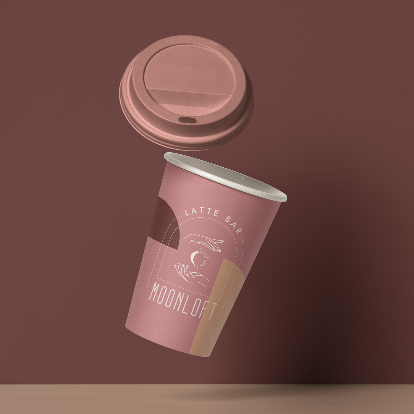 branding  Coffee coffee cup latte bar Packaging