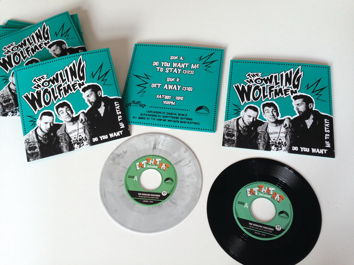 vinyl Single sleeve Psychobilly Longplayer punkrock Oi coverdesign bookletdesign
