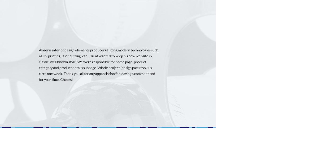 Website clean mobile cnc Printing laser interior design  stylish blue modern