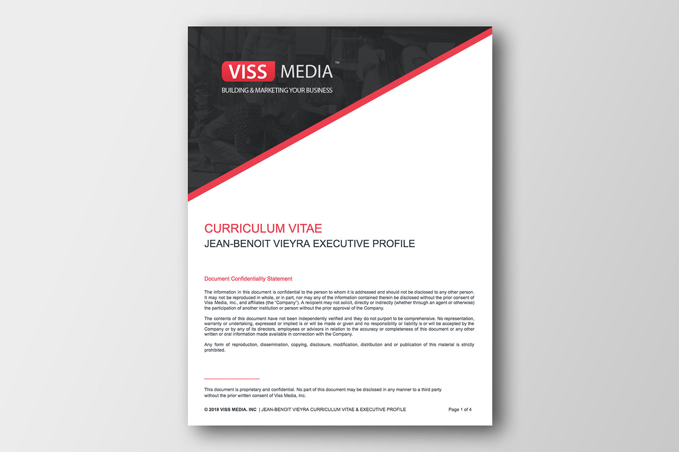 Curriculum Vitae Resume Design Template On Behance