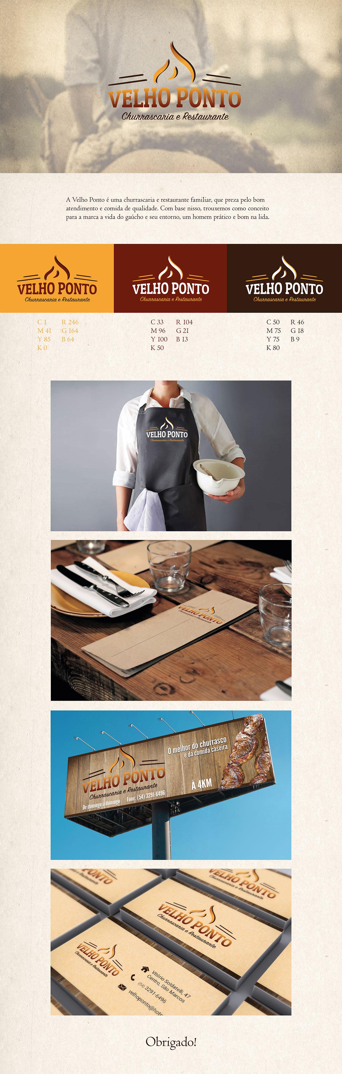 branding  grafico marca Churrascaria restaurante culinária design gráfico