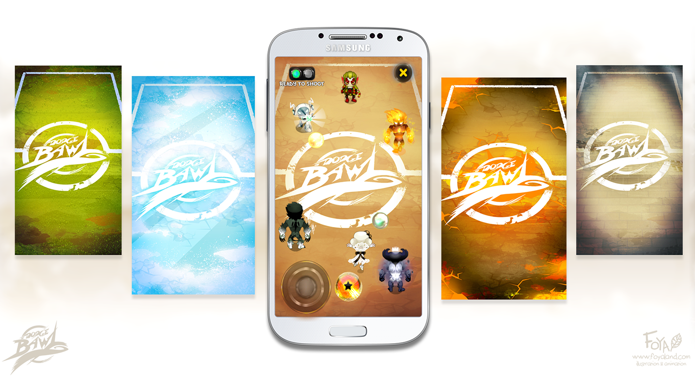android Indie game video game mobile game Dodgeball Sprite Animation flash animation concept art charadesign splashscreen loading illustration concept artist senior artist FX animation prison ball
