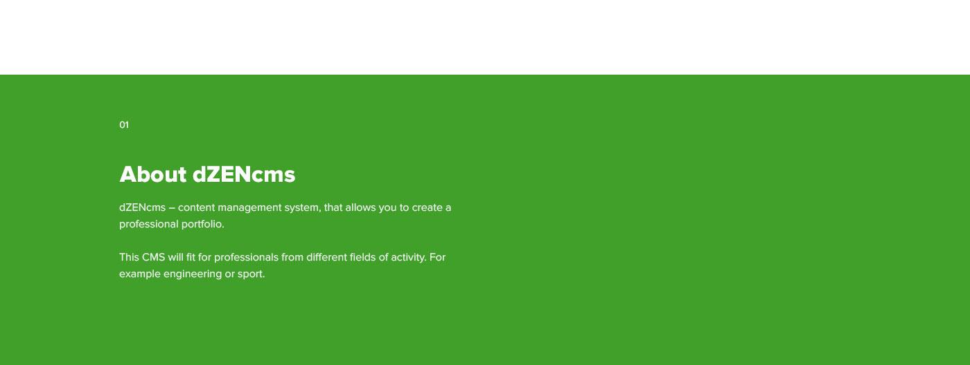 cms portfolio design Markup site builder