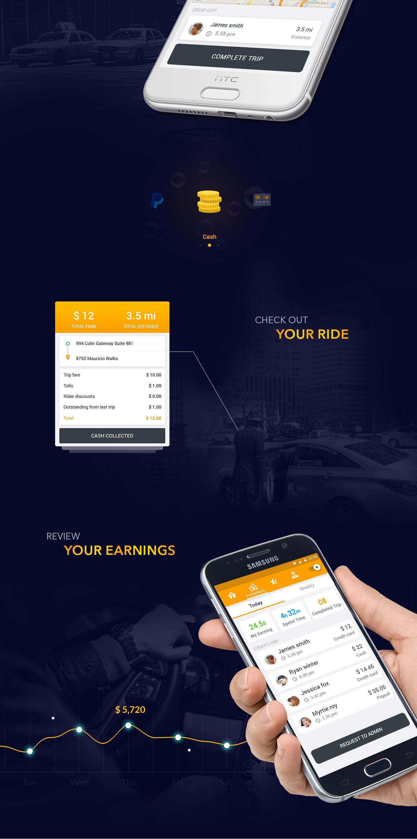 taxi app mobile Uber free psd material design download Christmas UI design