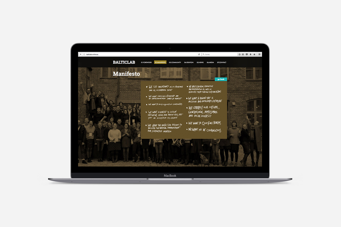 gold Layout cover balticlab biographical note people typography   print Web Design  editorial