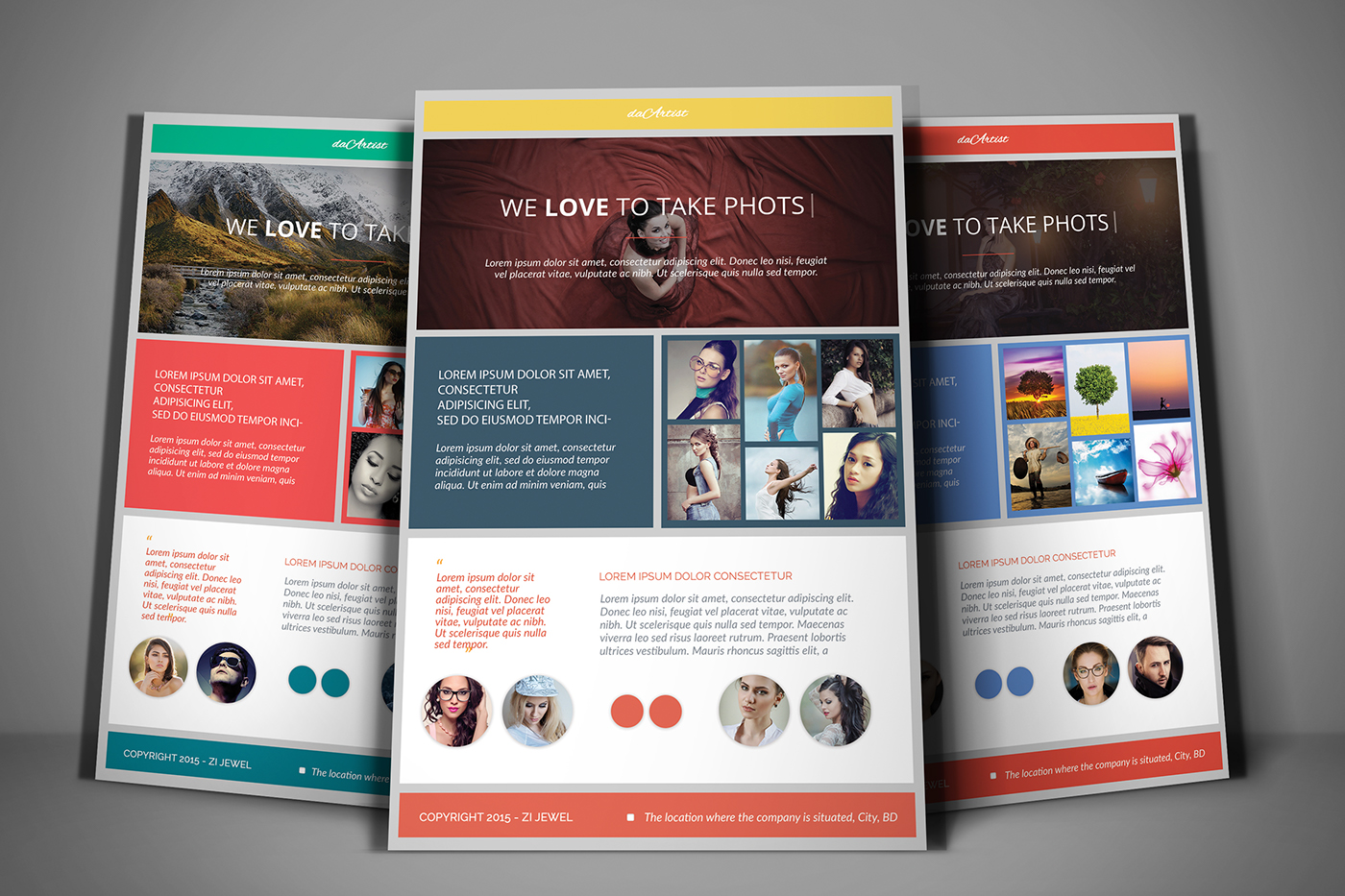 flyer poster business corporate photo free freebie download template photoshop psd high quality print ready