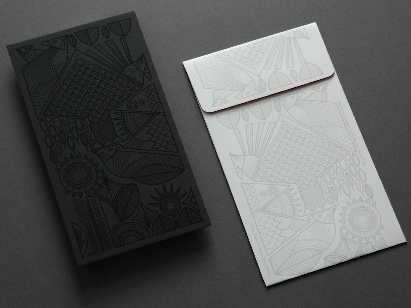 有獨特感的34款聖誕卡片設計欣賞