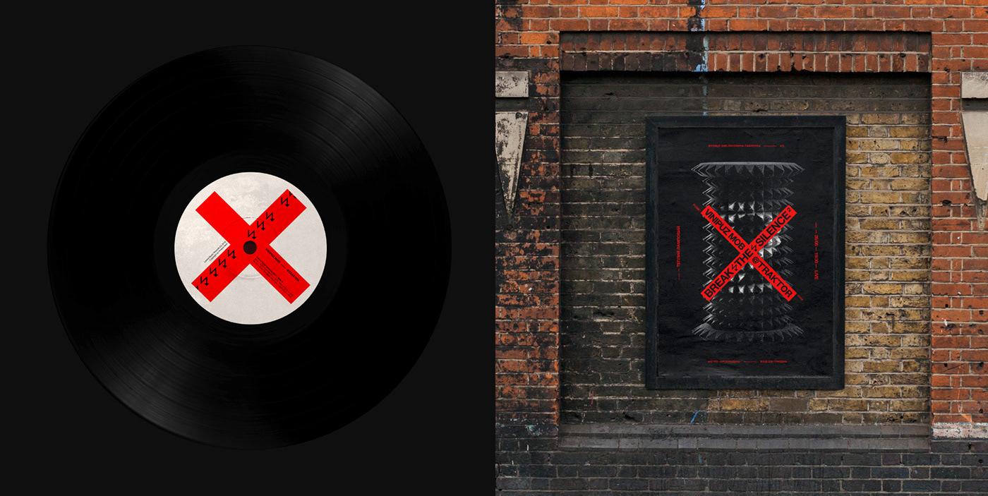 concert Funk music vinipuz mob break silence poster sound insulation sticker