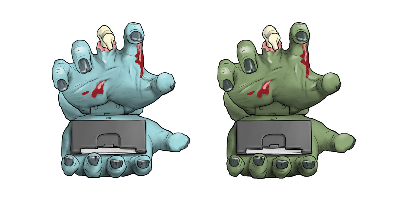 toy design  zombie hand  zombie sketching Drawing  Concept Sketches product design