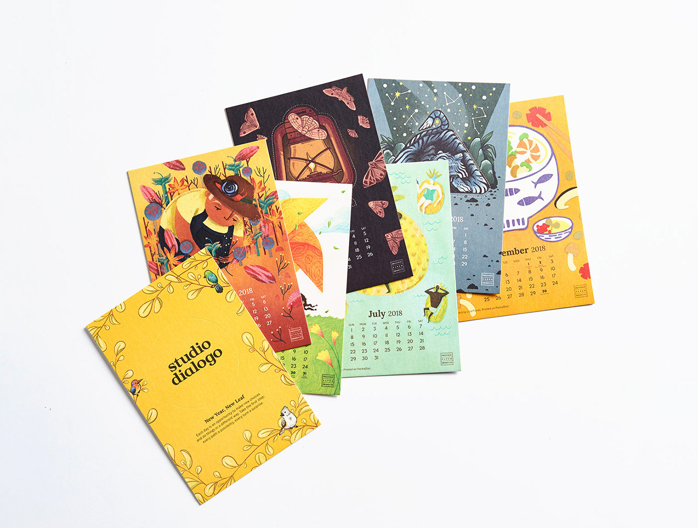 pankadisc reuse coaster calendar mermaids Pineapple prestigepaperproducts dialogo ILLUSTRATION  reusable