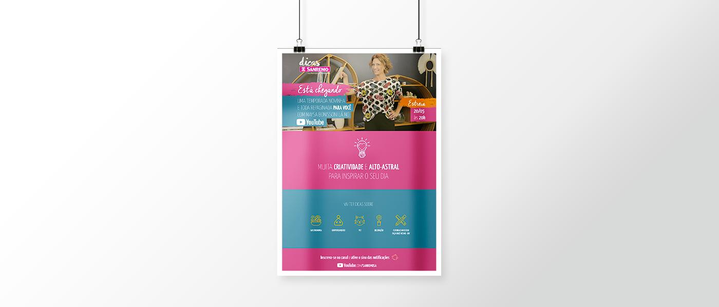 webserie identidade visual sanremo dicas design gráfico youtube banner social media Redes Sociais cards