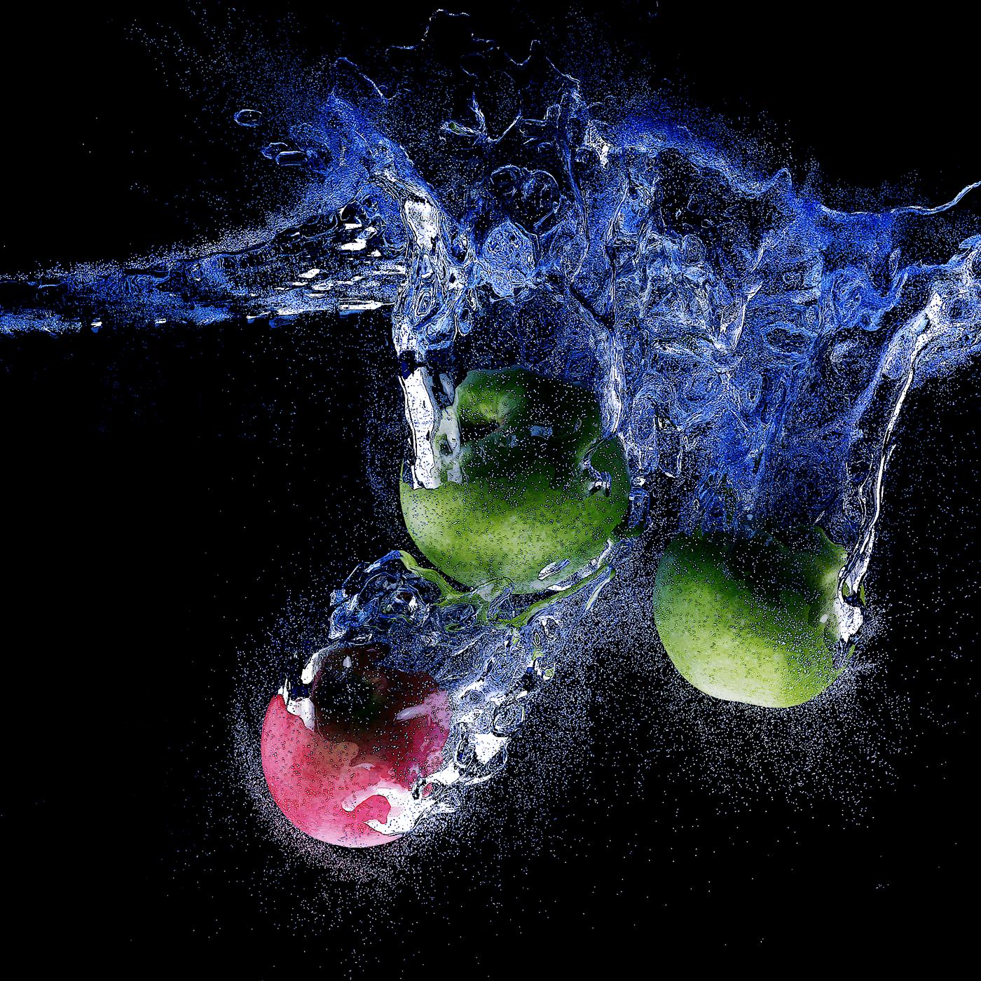 blender CGI fluidsimulation Fruit Render splash