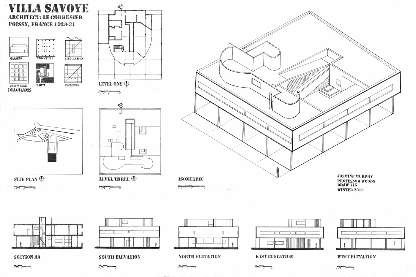 Villa Savoye Project On Behance