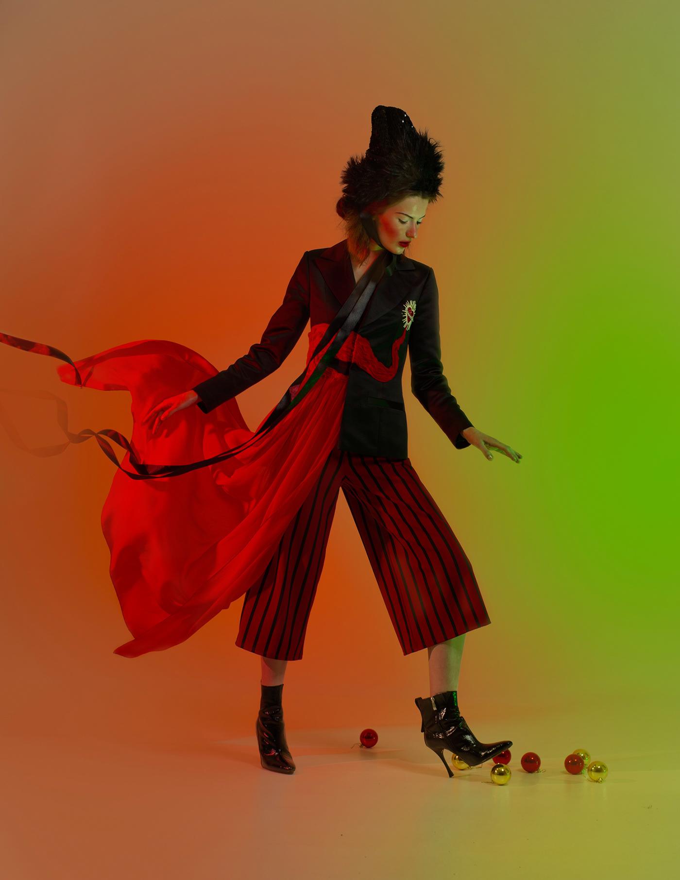 Fashion  editorial Christmas Nutcracker fairytale portrait