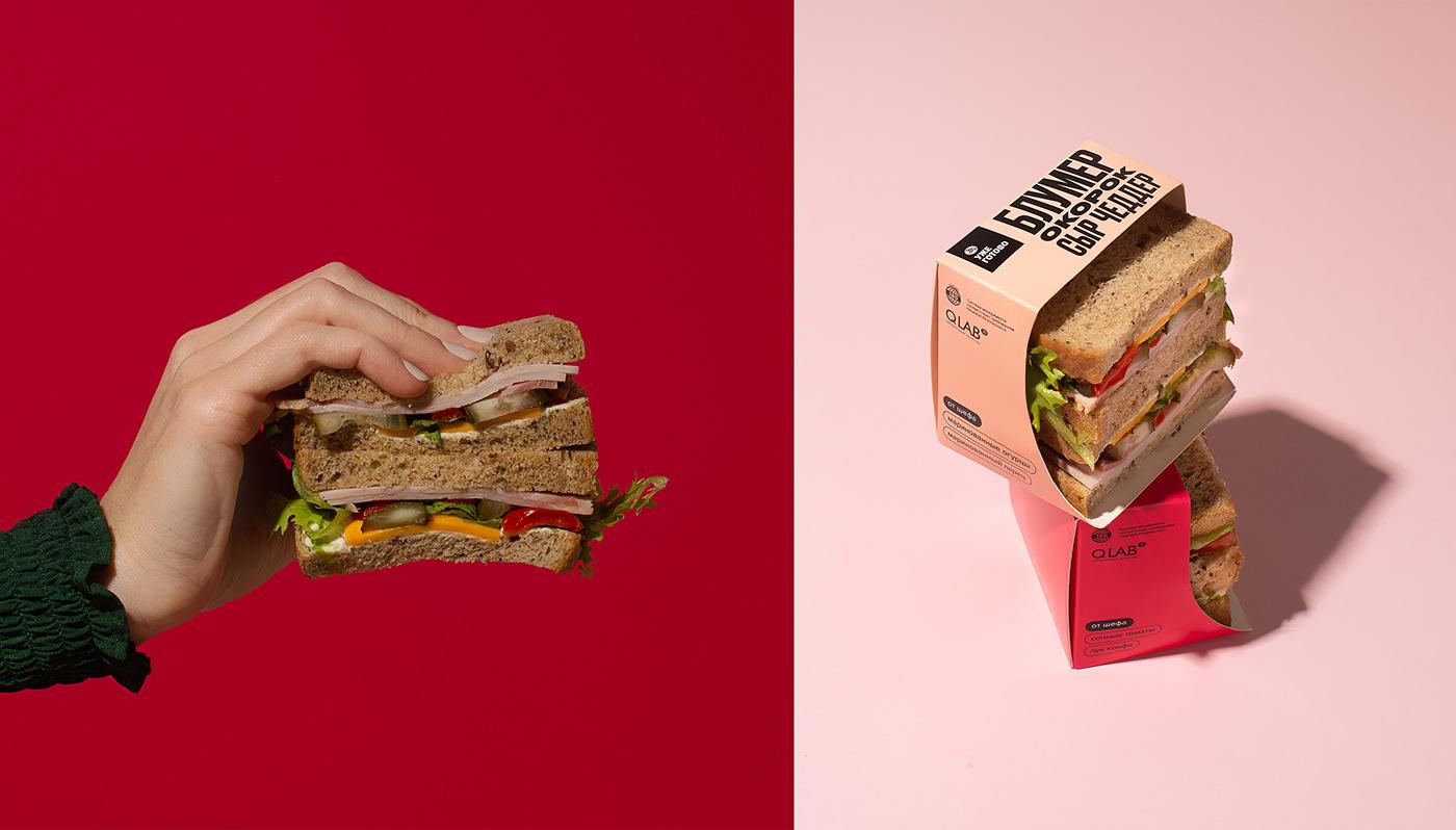 av bread colors fastfood Food  Packaging streetfood typography