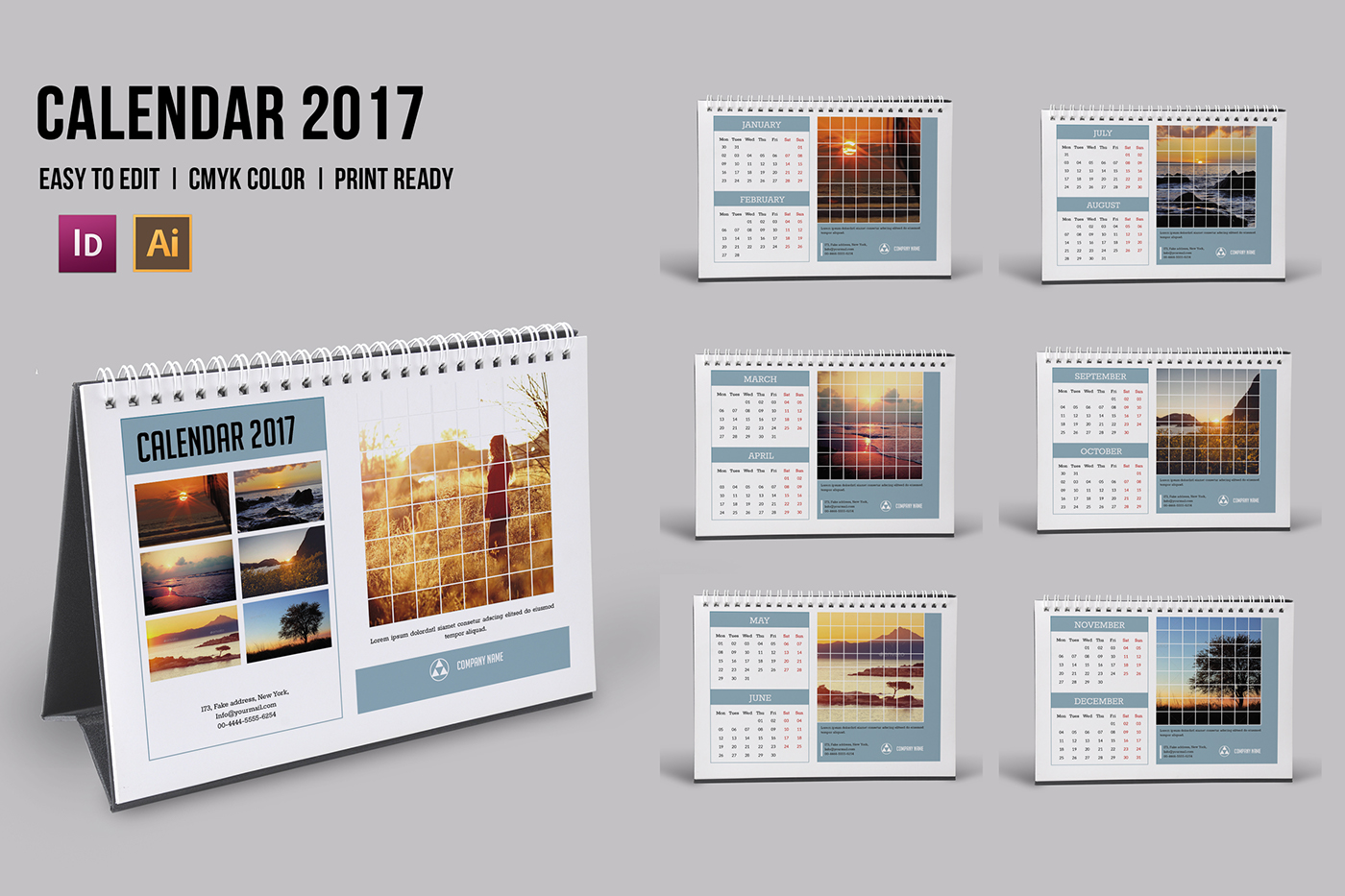 Corporate Calendar Theme Ideas : Corporate desk calendar template on behance