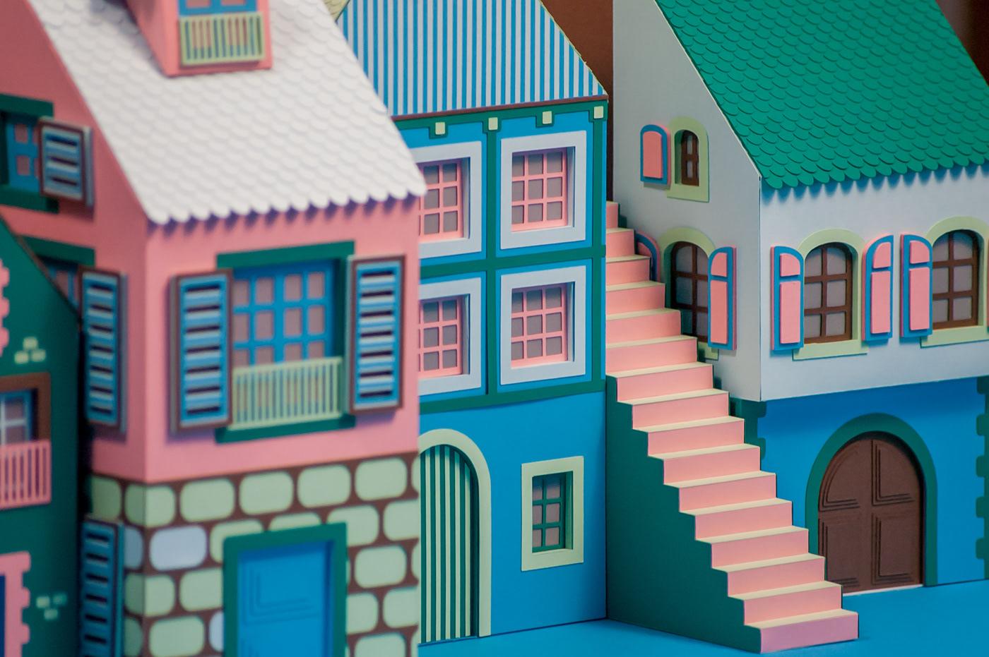 architecture city color handmade hermes paper paper art paper craft paper design windows display
