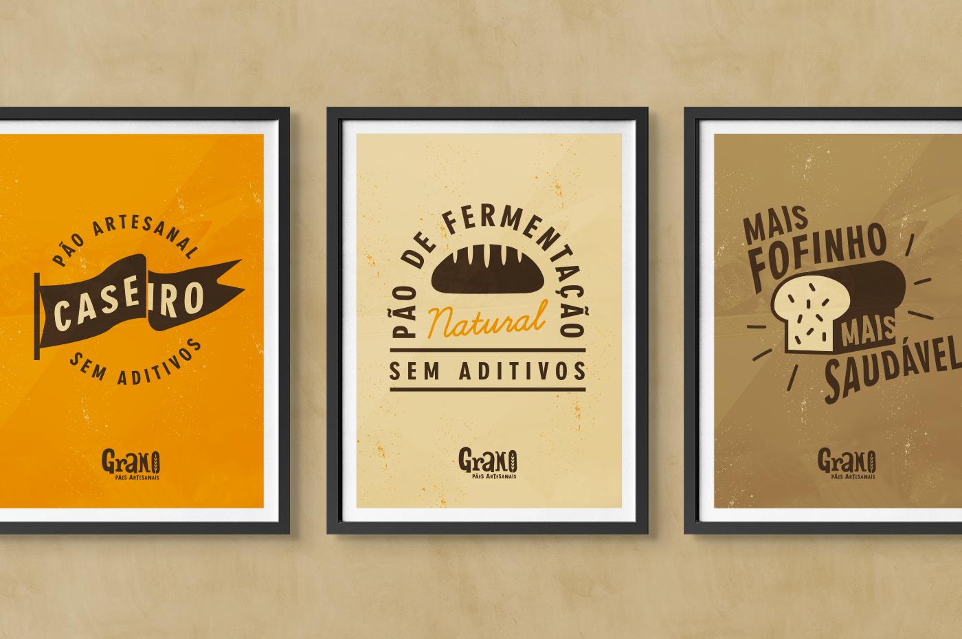 Grano bakery bread artesanal craft logo lettering artisan