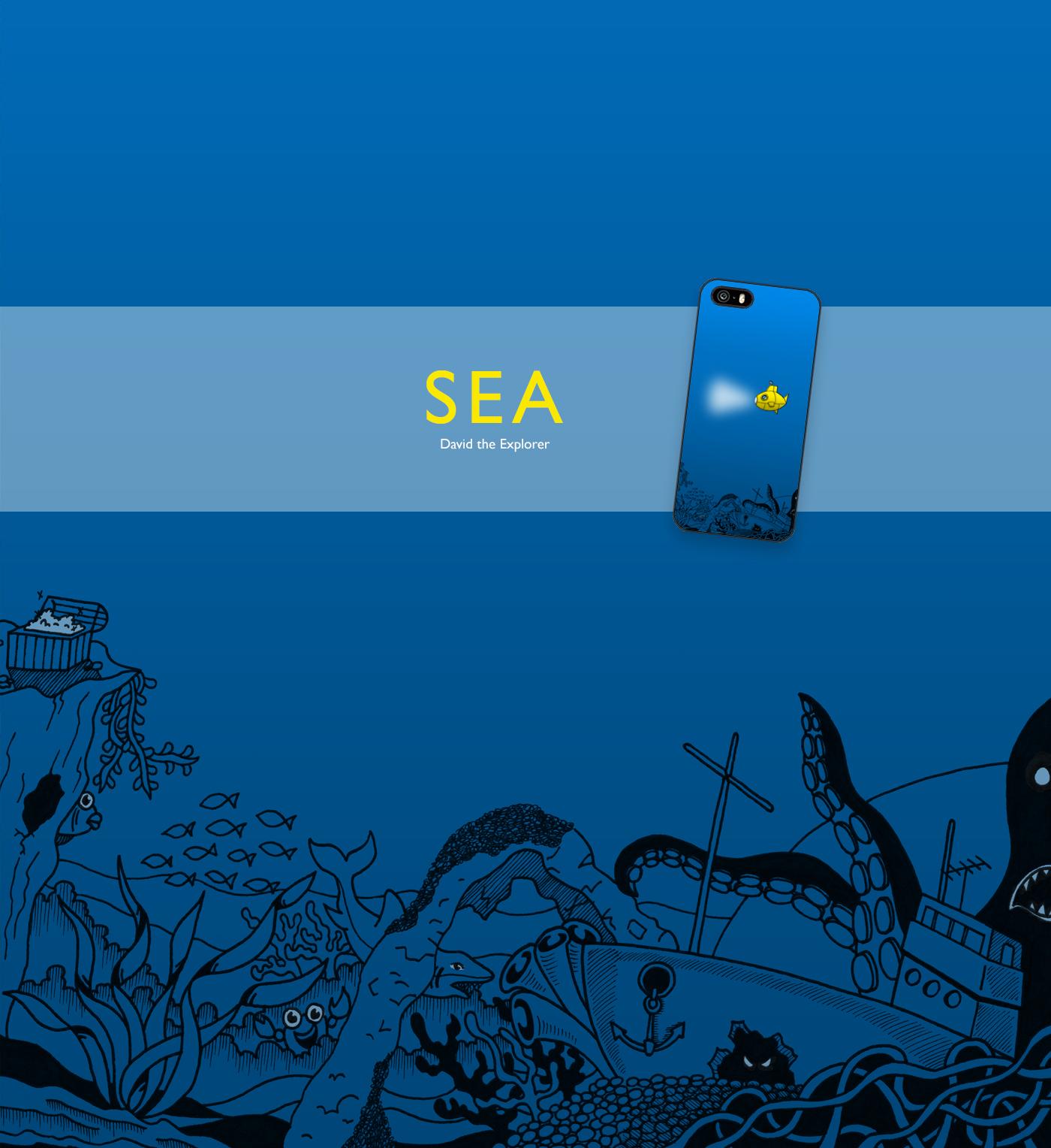 explorer cover case jungle sea Space  Travel case design cover design