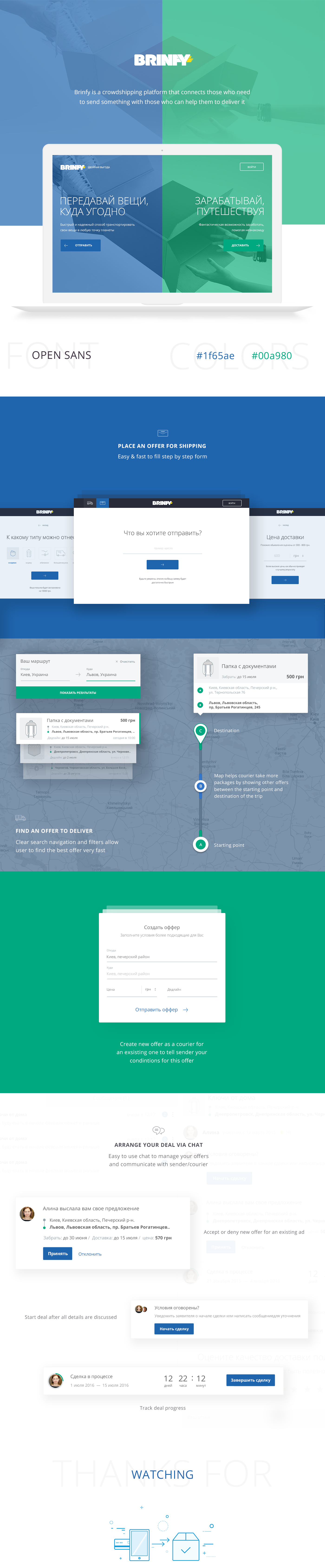 Crowdshipping delivery shipping Webdesign UI ux