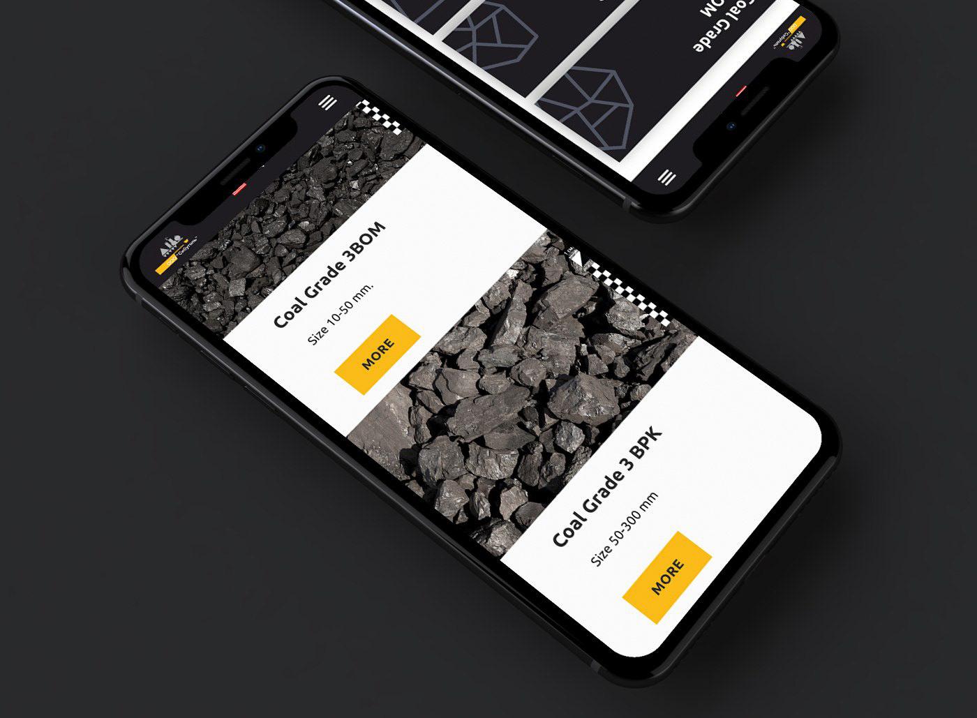 coal industry Web Design  Website