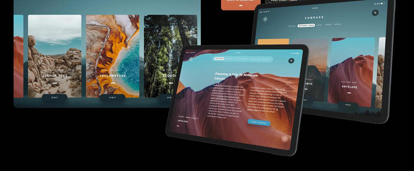 Adobe XD national parks Prototyping ux