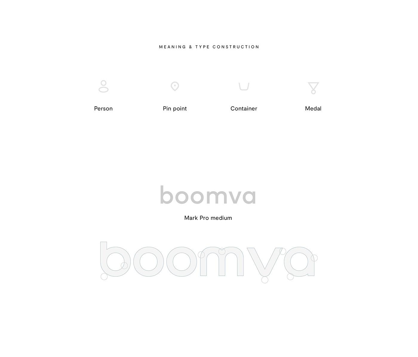 boomva brand Brand Design Logotype symbol mark app design Logo Design identity services