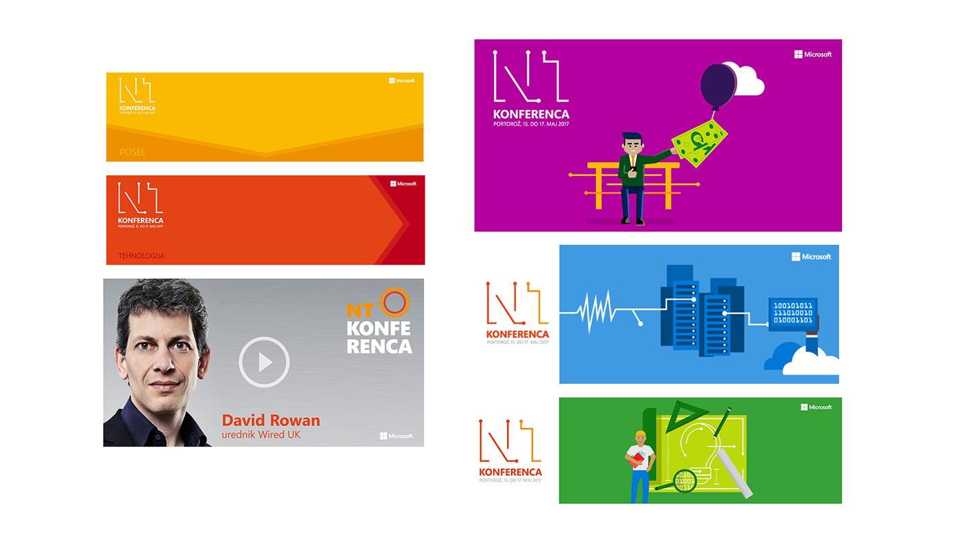 Event Coference Microsoft graphic design  branding  visual identity