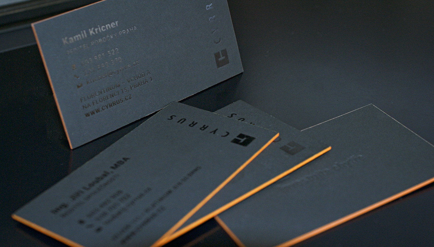 Luxury business cards for top management on Behance