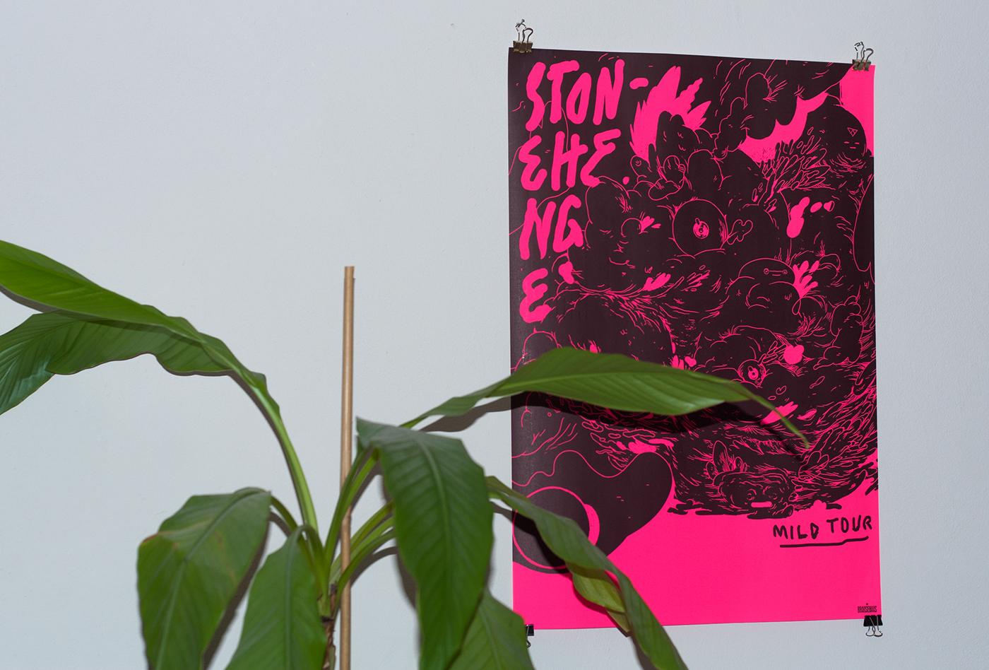 vinyl cover rock psychedelic creatures comic Character Nature vivid crazy