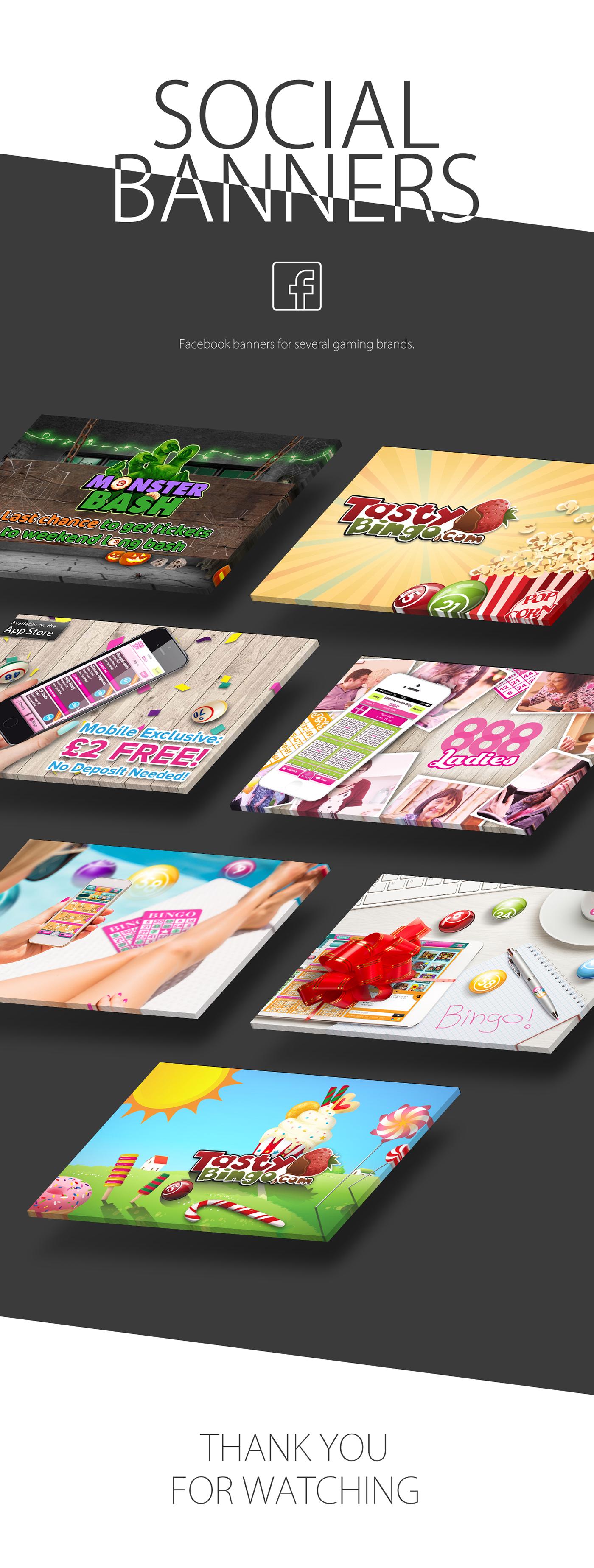 banners social Social banners facebook Gaming Games branding  colorful