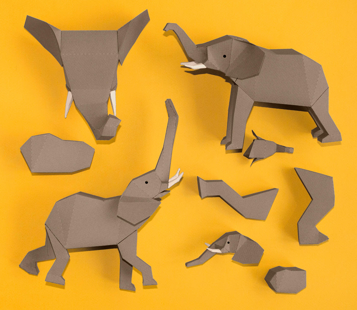 papercraft lowpoly guardabosques amarula posterdesign papersculture elephant paperelephant paperart graphicdesign