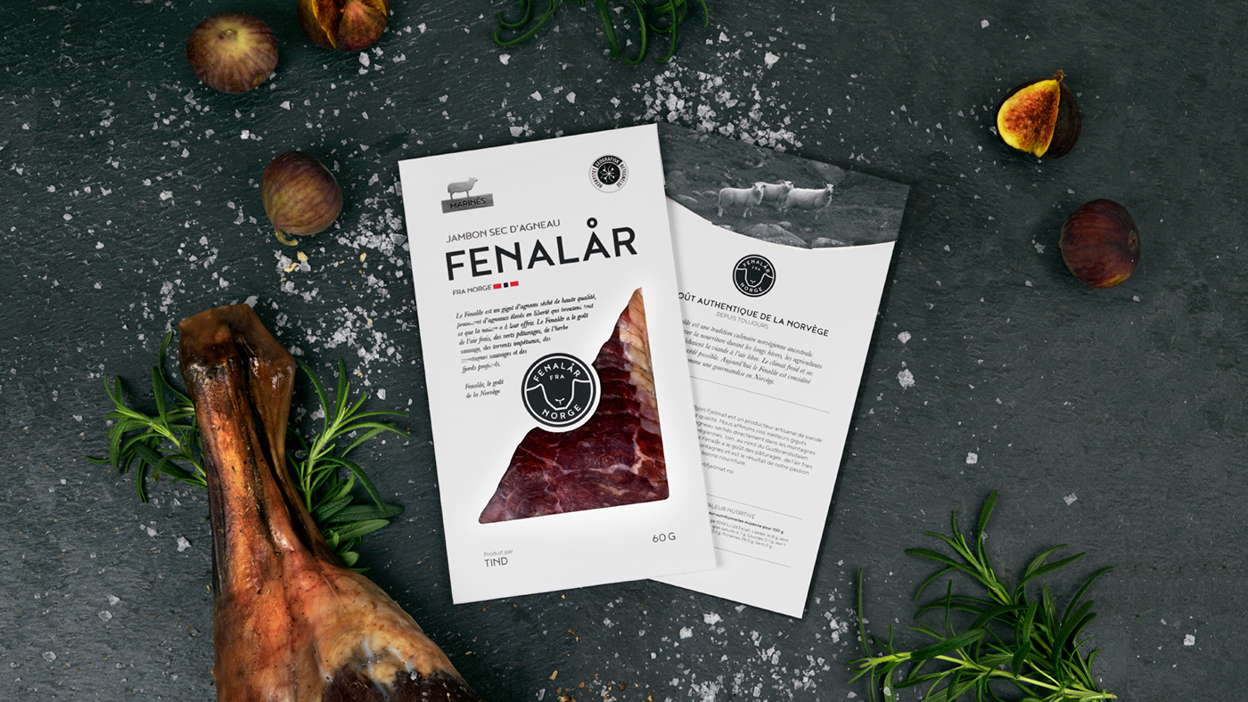 Icon Packaging norwegian Scandinavian cured meat delicacy lamb Food  meat tradition