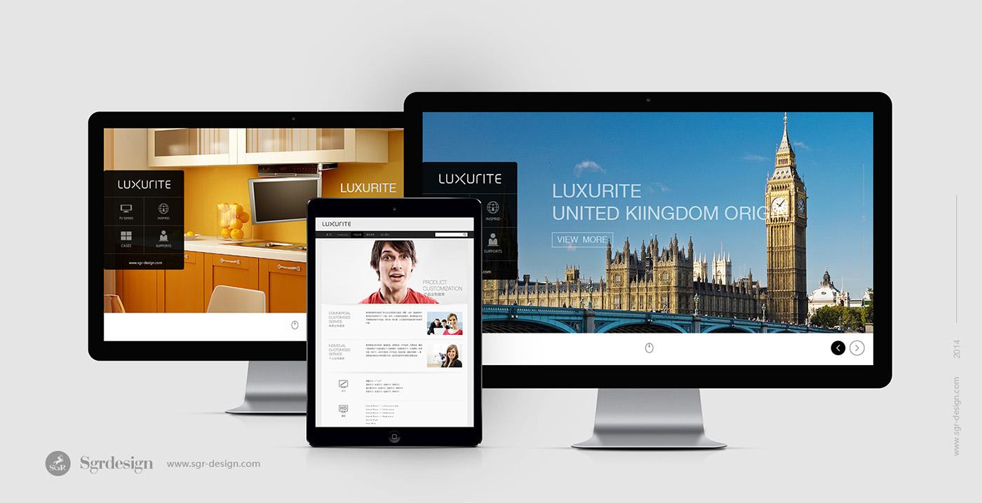 Web 网站设计 sgr-design.com 半人马设计 镜面电视品牌 厨房电视品牌 品牌官网设计