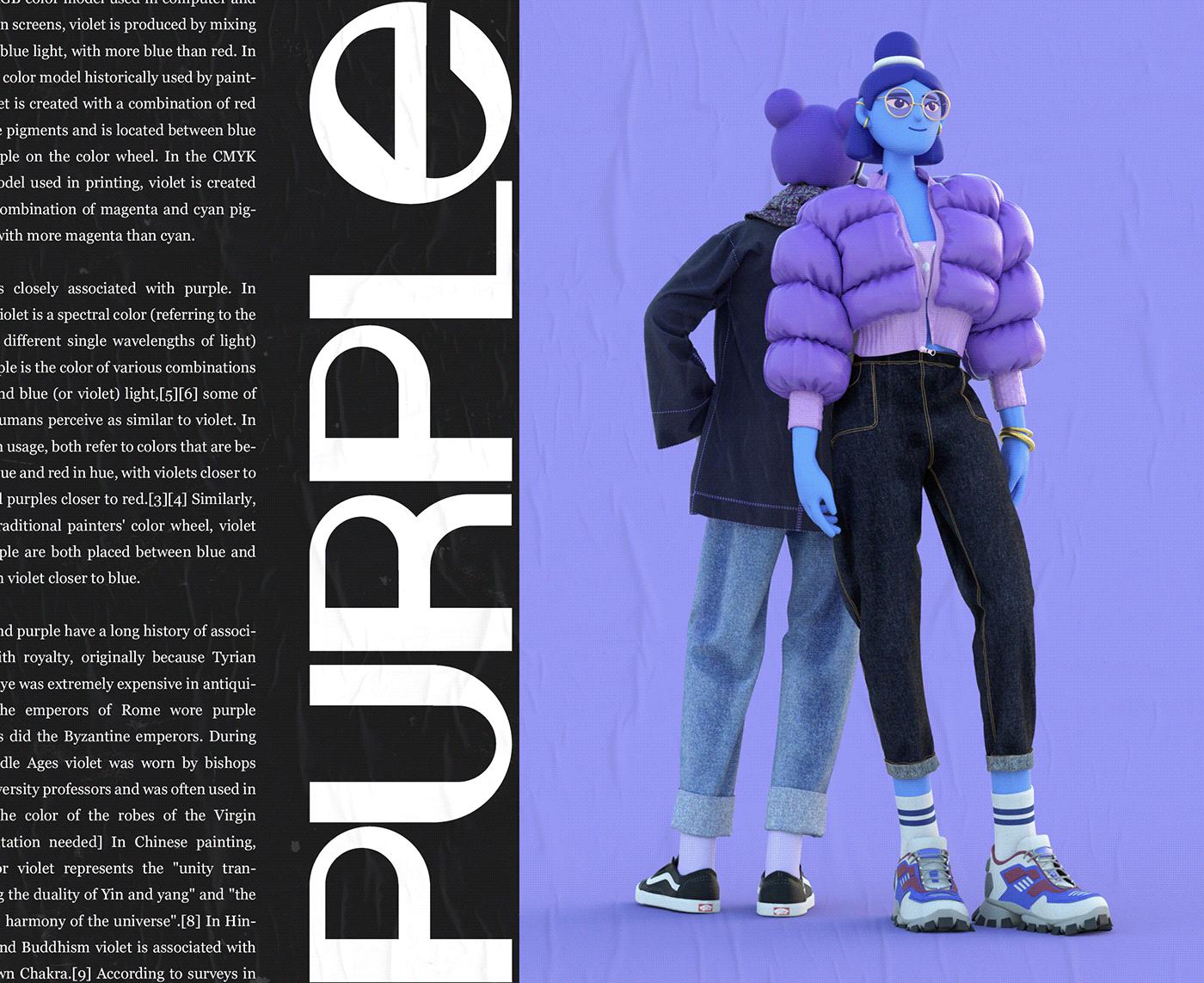 3D 3D Character Character design  Fashion  ILLUSTRATION  magazine 3d design clothing design IP
