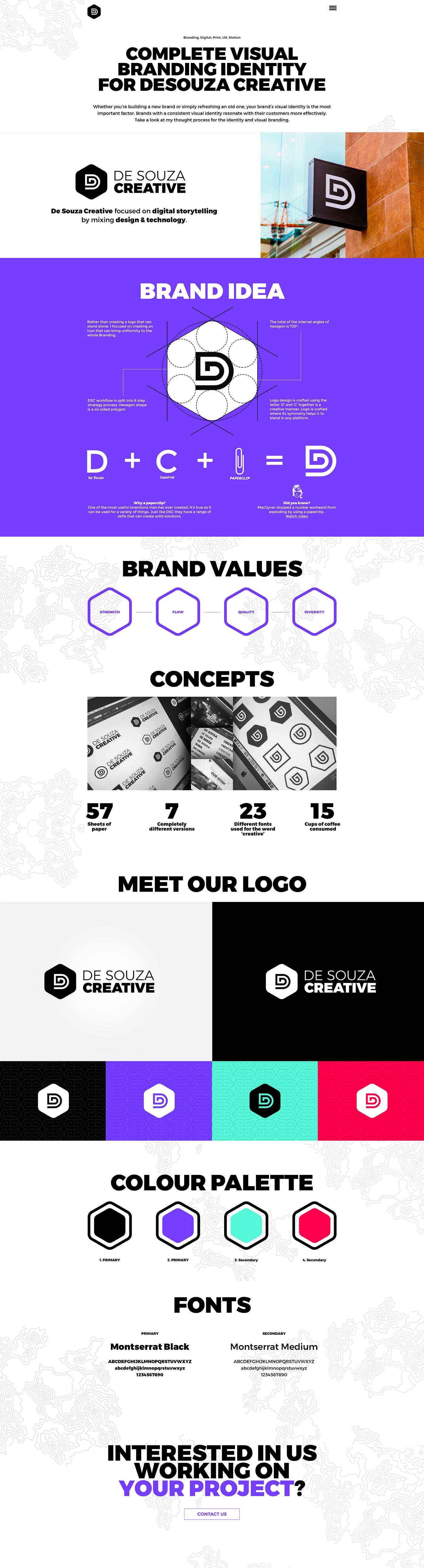 purple red turquoise Web Design  branding  personal branding visual identity