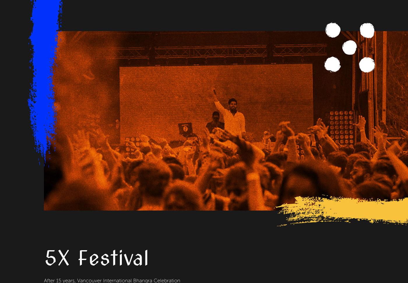 Bhangra branding  logo festival culture UI ux music bold Colourful