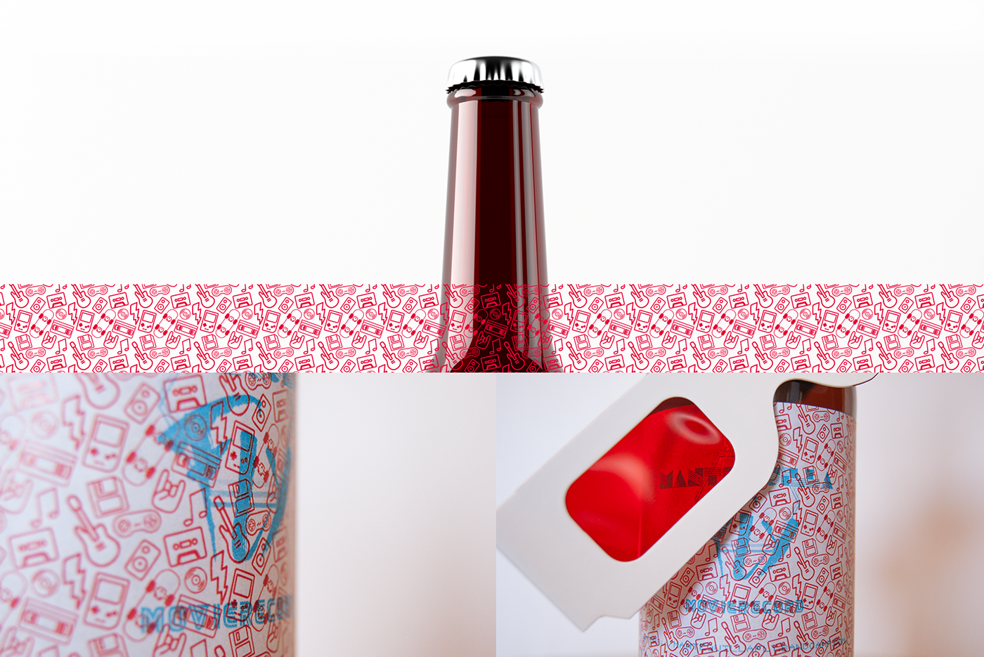 mantequilla fly beer anaglyph bottle Art Director graphic design  music direct marketing