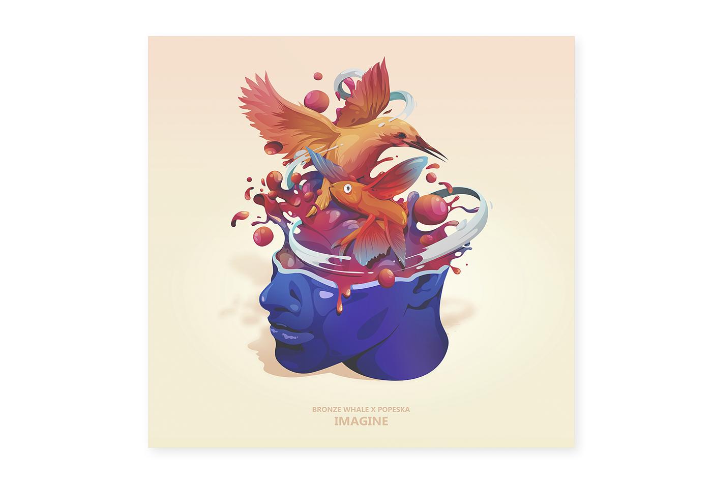 music Album soundtrack ILLUSTRATION  design direction Imagine wacom
