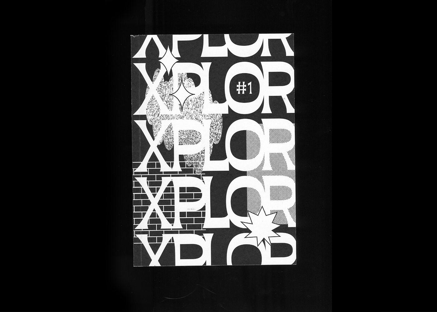 magazine editorial xplor postgraffiti zgonowicz kamillach graphicdesign print