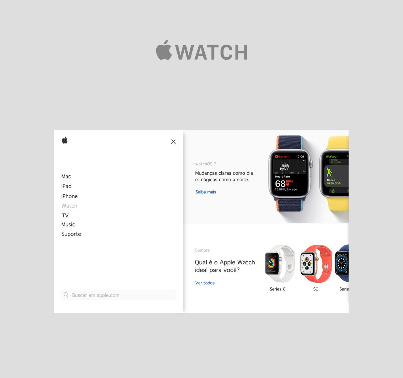 apple design Ecommerce Interface shop UI ux