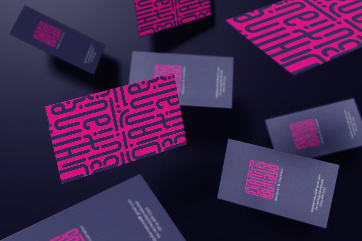 branding  Dianne Butial pink logo personal branding Graphic Designer Illustrator