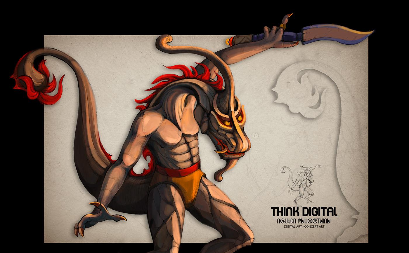 character art Character design  concept art Digital Art  graphic HCM ARTIST Illustrator thinh viet nam